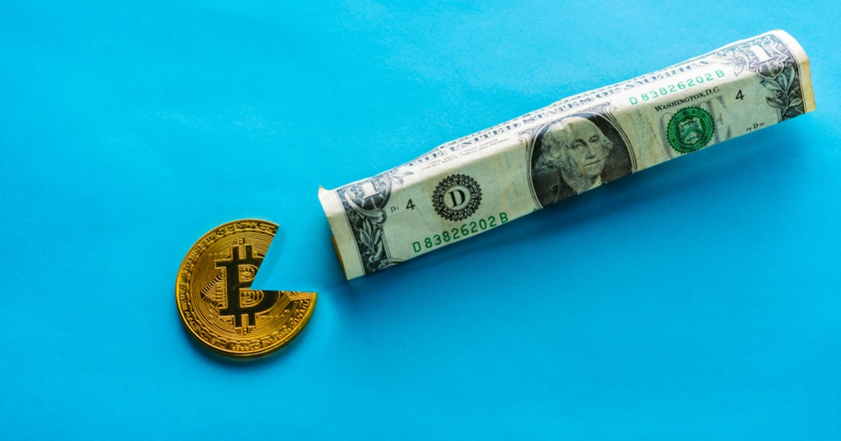 Bitcoin eating the USD dollar