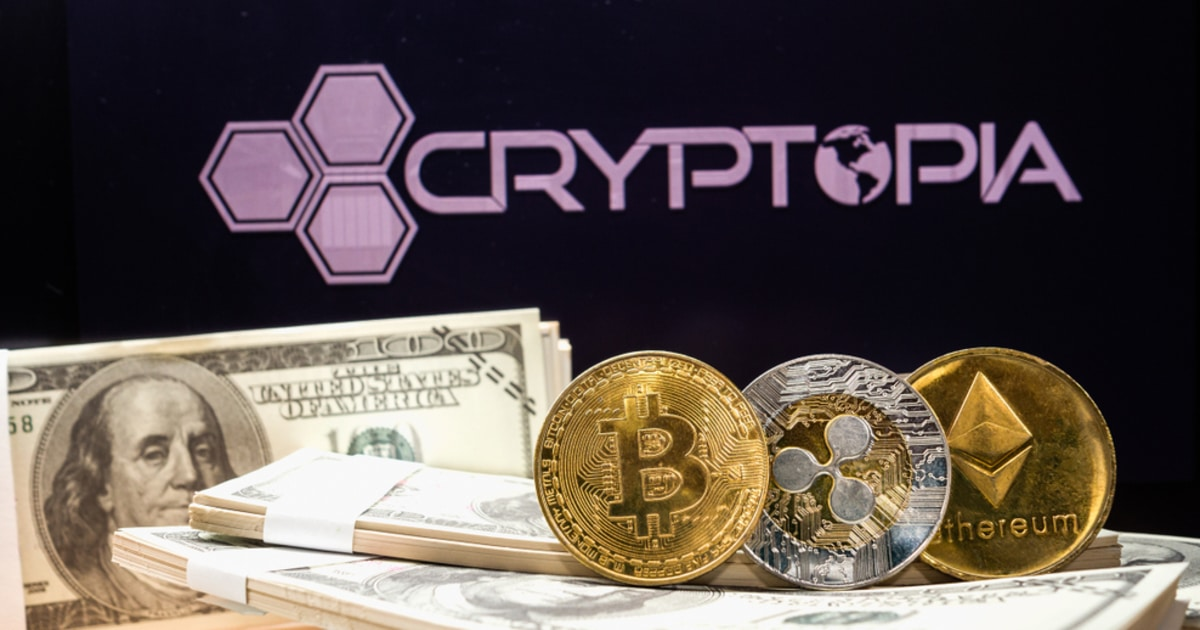 cryptopia exchange and crypto like Bitcoin and Ethereum pictured with fiat