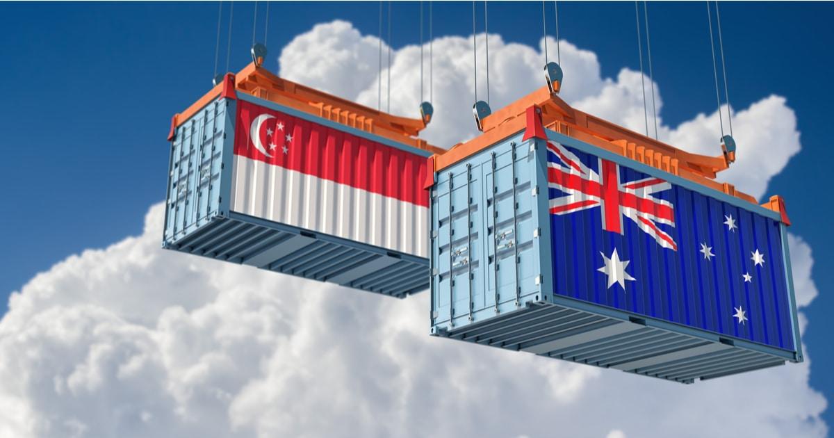 Australia, Singapore, Blockchain, Trade