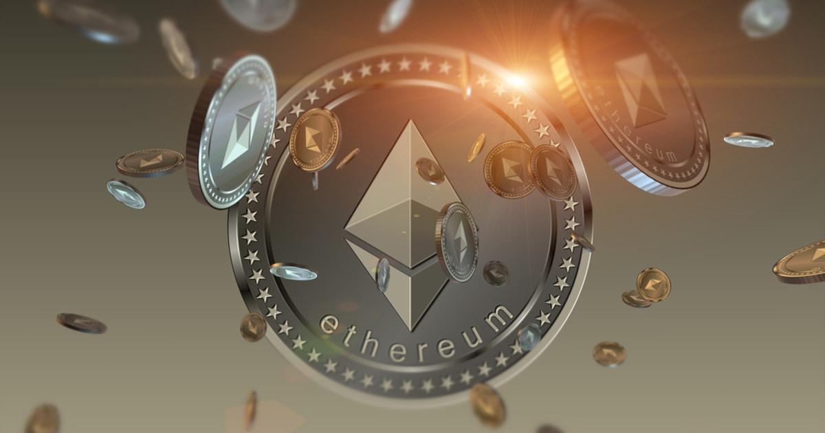 Ethereum coins raining down
