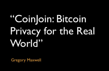 """CoinJoin: Bitcoin Privacy for the Real World"""