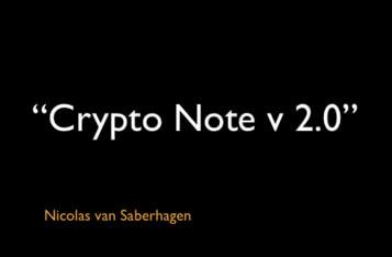 """CryptoNote v 2.0"""