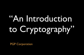 """""""An Introduction to Cryptography"""""""